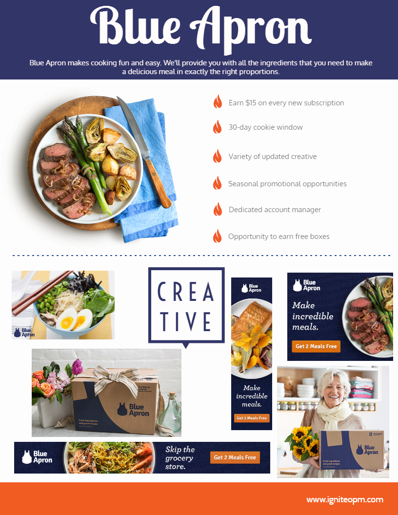 Blue apron account